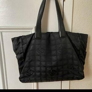 Chanel vintage tote bag black/ brown! Good shape!